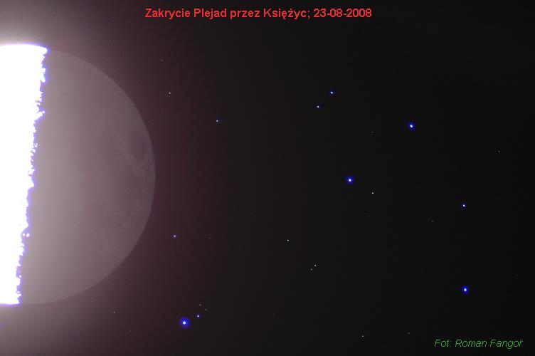 Zakrycie Plejad przez Księżyca, 23 sierpnia 2008
