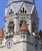 Południe na kościelnej wieży