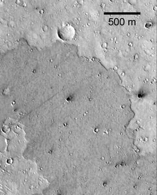 Młodszy istarszy fargment powierzchni Marsa