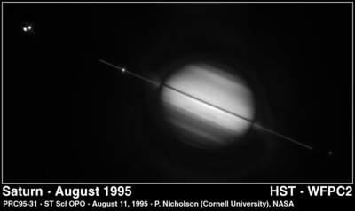 znikanie pierścieni Saturna