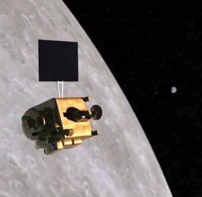 Chandrayaan nad Księżycem