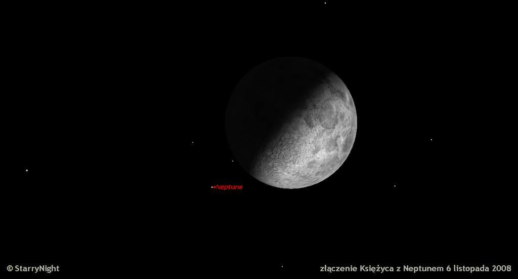złączenie Księżyca z Neptunem 6 listopada 2008