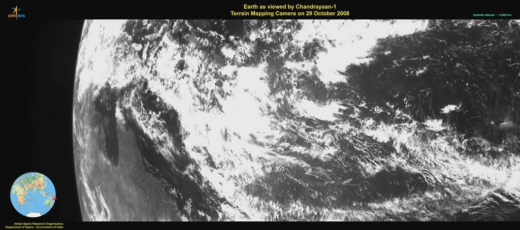 Ziemia zpokładu Chandrayaan 1