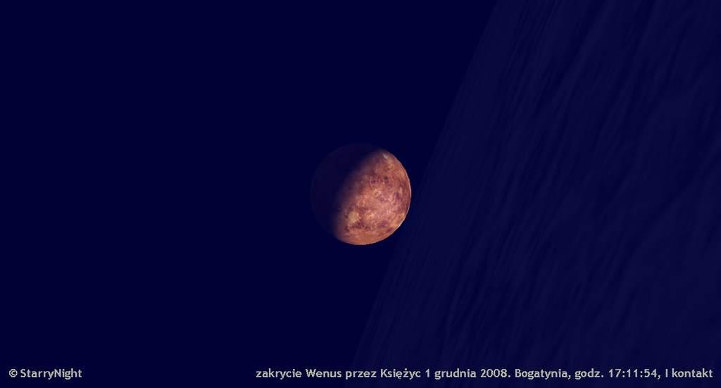 zakrycie Wenus przezKsiężyc 1 grudnia 2008, Ikontakt