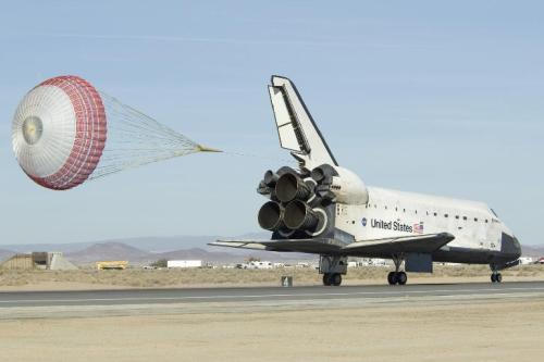 Lądowanie promu Endeavour 30 listopada 2008