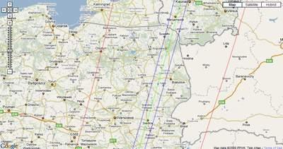 Północna część  przechodzącego przezPolskę pasa zakrycie HIP 46511 przez2105 Gudy