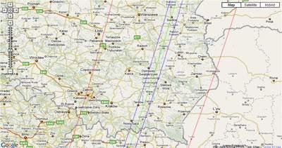 Północna część przechodzącego przezPolskę fragmentu pasa zakrycie HIP 46511 przez2105 Gudy