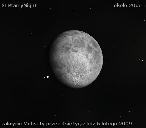 Zakrycie Mebsuty przez Księżyc