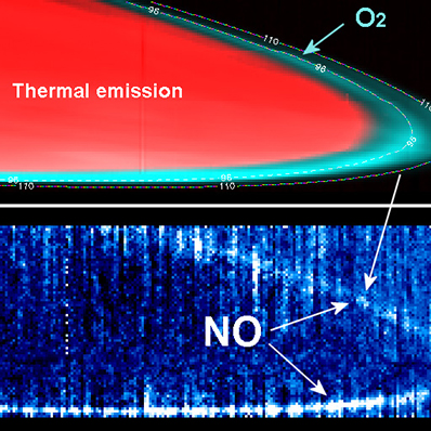 Świecenie górnych warstw atmosfery Wenus