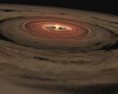 Powstający układ planetarny