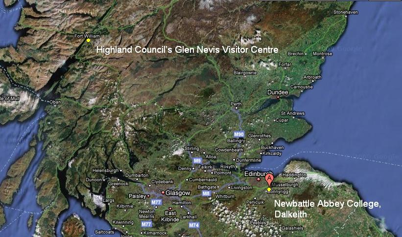 Mapa Szkocji