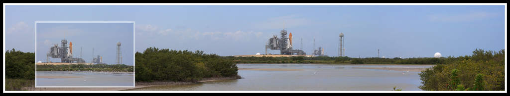 Endeavour i Atlantis na stanowiskach startowych
