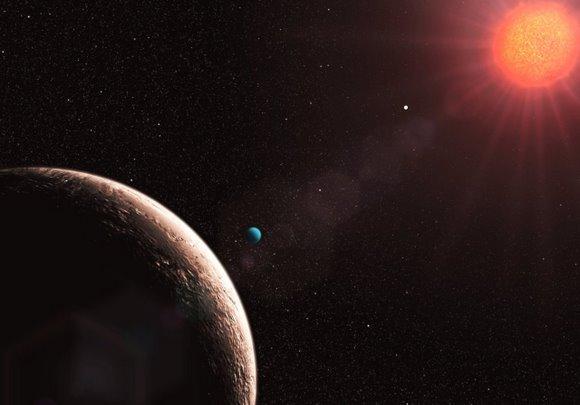 Gliese 581 - artystyczna wizja nowego układu