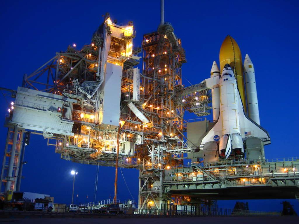 Atlantis o świcie na stanowisku 39A