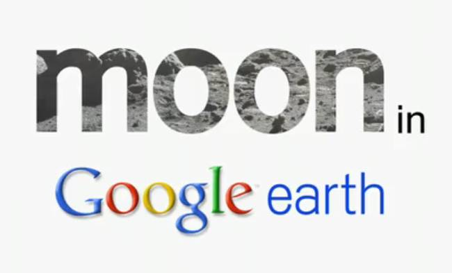 google Earth with moon