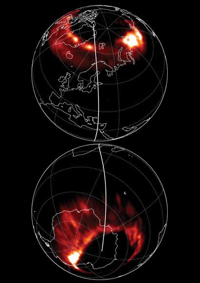 zorze polarne - wykres z nature