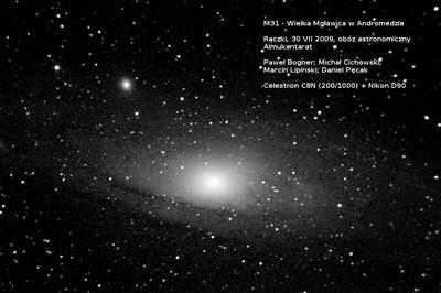 Obóz w Rączkach - zdjęcie galaktyki M31