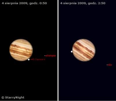 Zakrycie 45 Cap przez Jowisza 4 sierpnia 2009