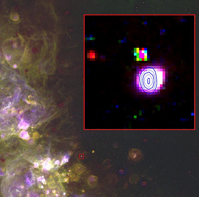 Radioźródło JD 04 w Małym Obłoku Magellana