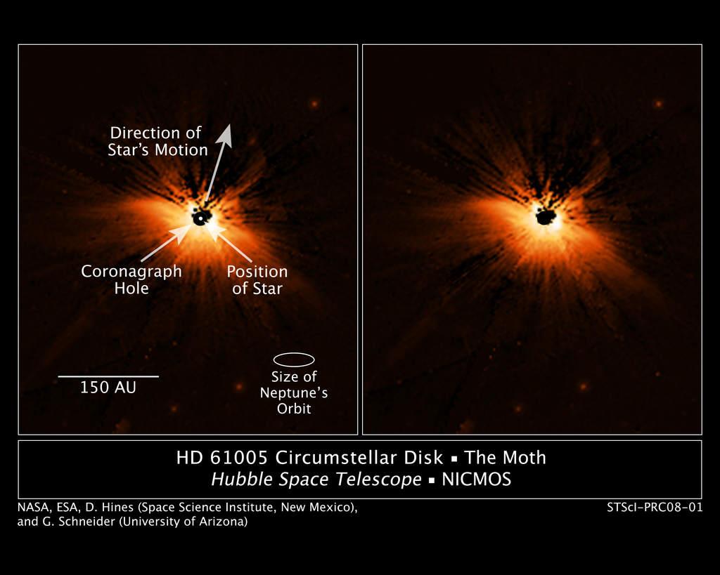 Pyłowy dysk wokół HD 61005 (2)