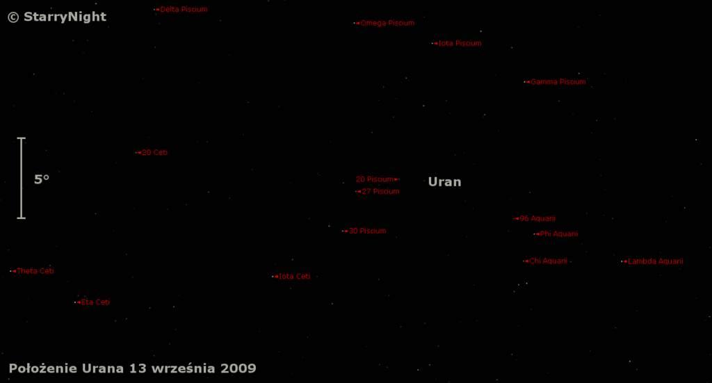 Droga Urana wśród gwiazd poopozycji 2009