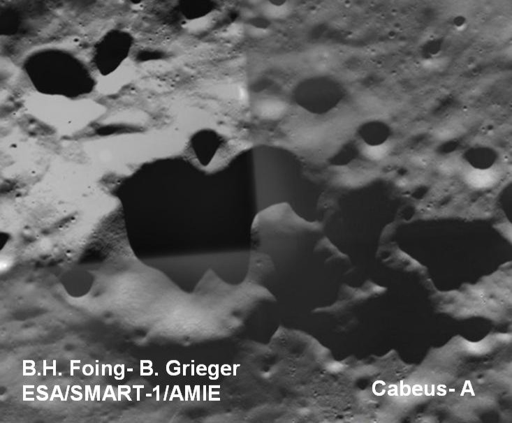 okolice Cabeus A - SMART-1
