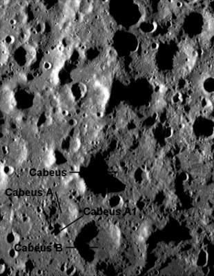 okolice Cabeus A- NASA