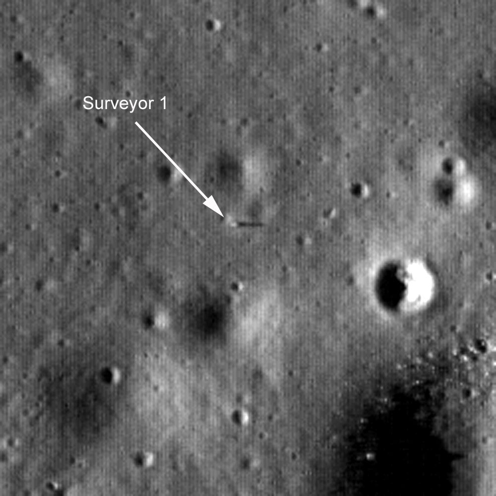 Zdjęcie Surveyor 1 z LRO