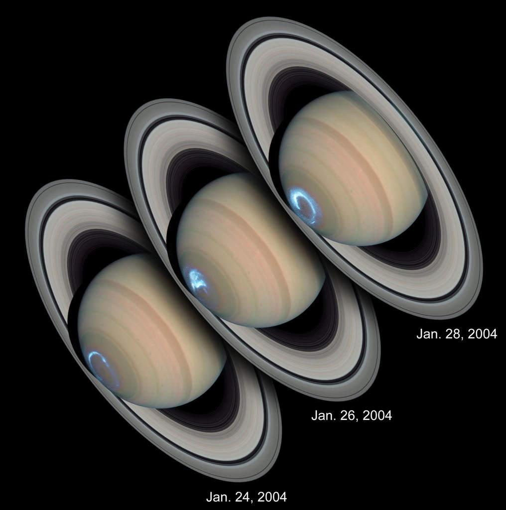Saturn - zorze polarne