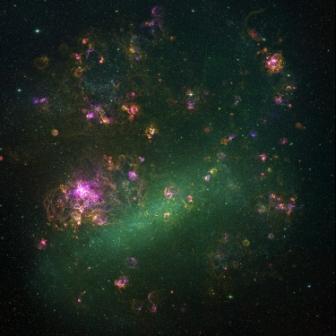 Mgławica Tarantula w świetle wdzialnym