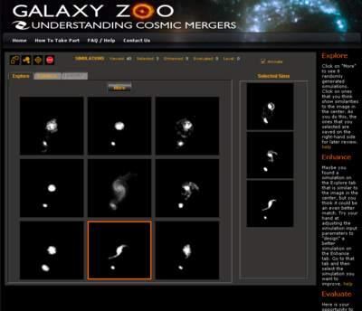 Interfejs dobadania zderzeń galaktyk wGalaktycznym Zoo