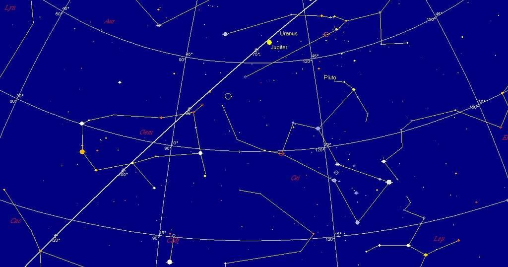 Niebo nad Padwą 7 stycznia 1610 roku wieczorem