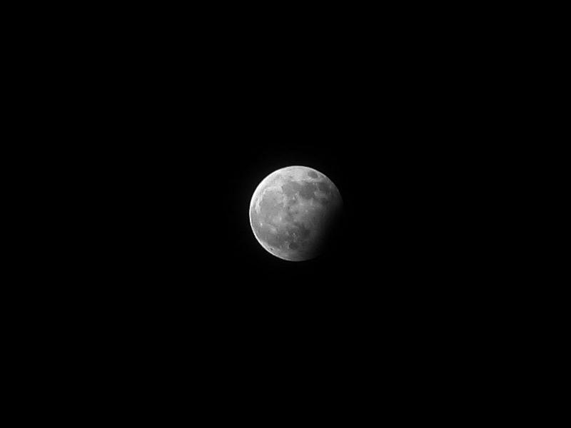 31 grudnia 2009, częściowe zaćmienie Księżyca