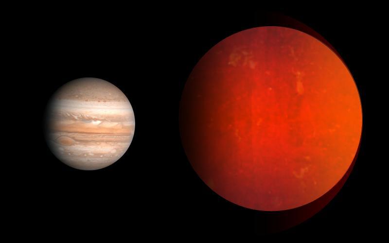 Porównanie planety XO-3b z Jowiszem