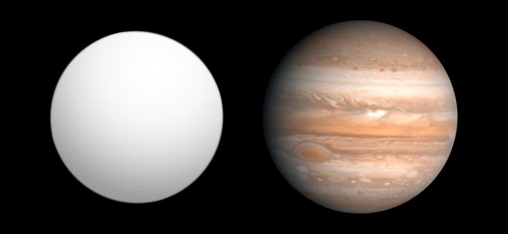 Porównanie planety HAT-P-3b z Jowiszem