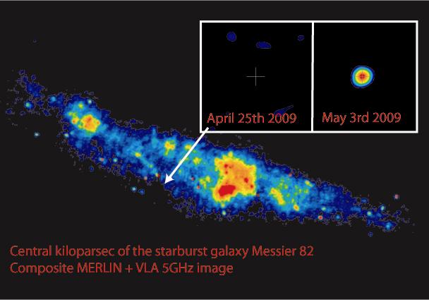 Mikrokwazar w M82