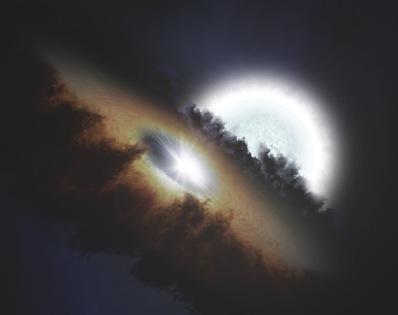 Epsilon Aurigae - wizja artystyczna