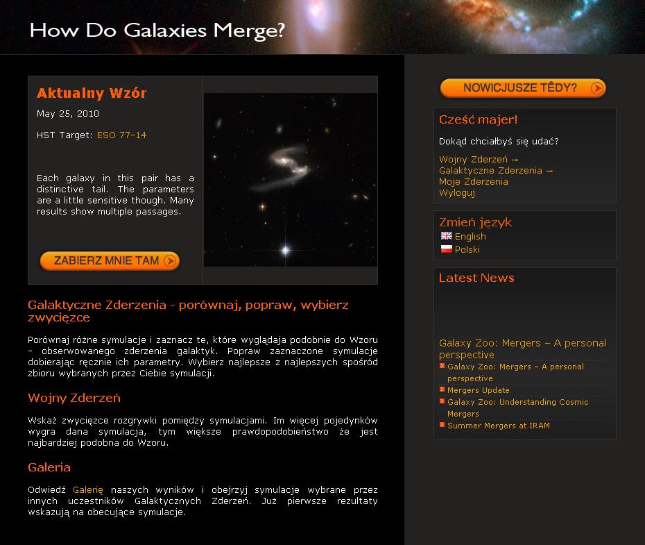 Polska wersja Galaktycznych Zderzeń