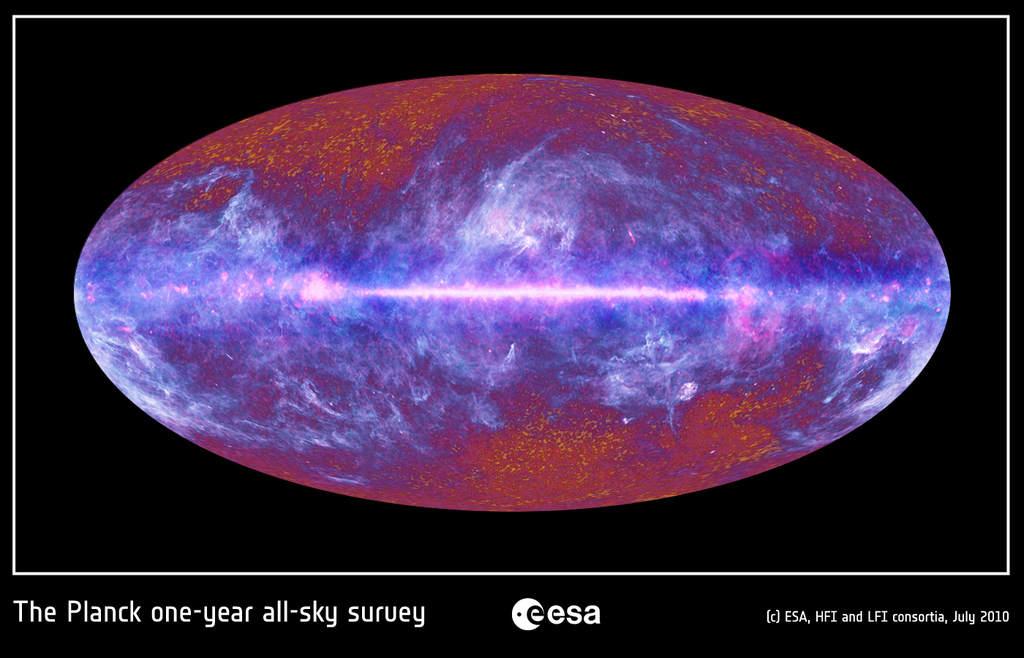Niebo na zdjęciu z Plancka