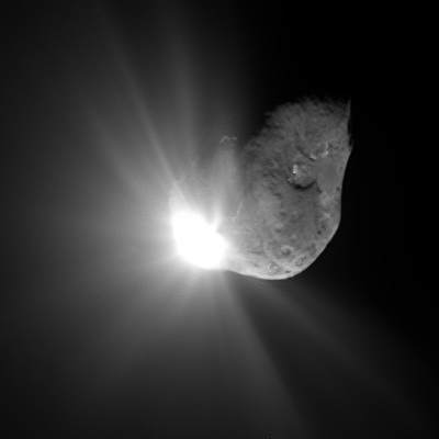 Uderzenie wjądro komety Tempel 1