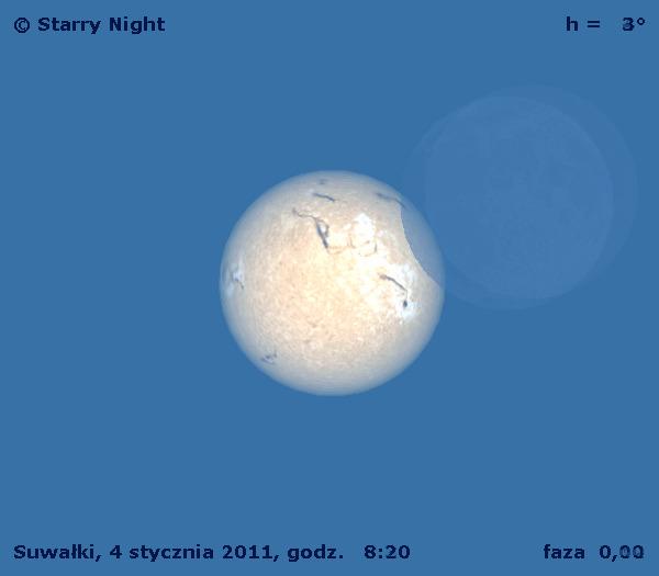 Animacja częściowego zaćmienia Słońca z 4 stycznia 2011
