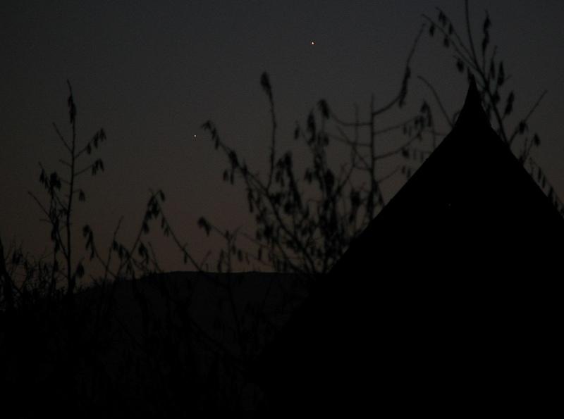 Merkury i Jowisz, 31 grudnia 2008