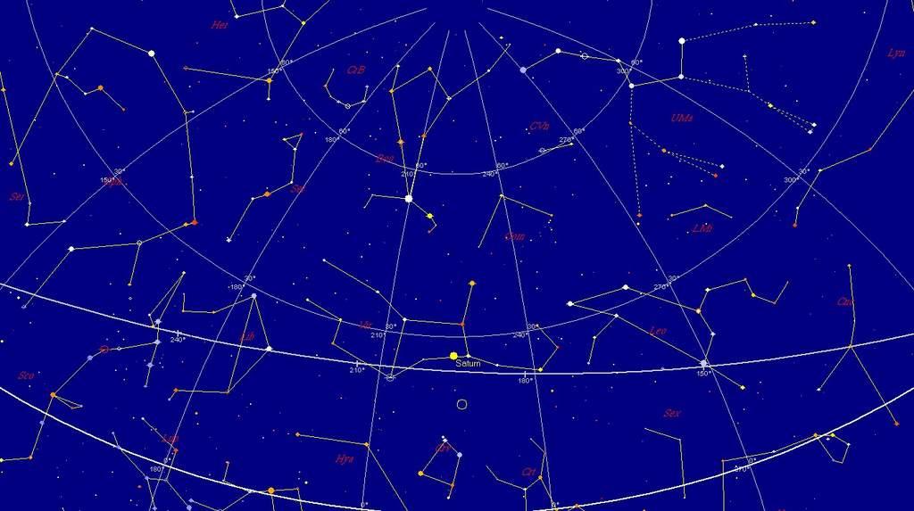 Księżyc i Saturn, 17 kwietnia 2011, 2:30