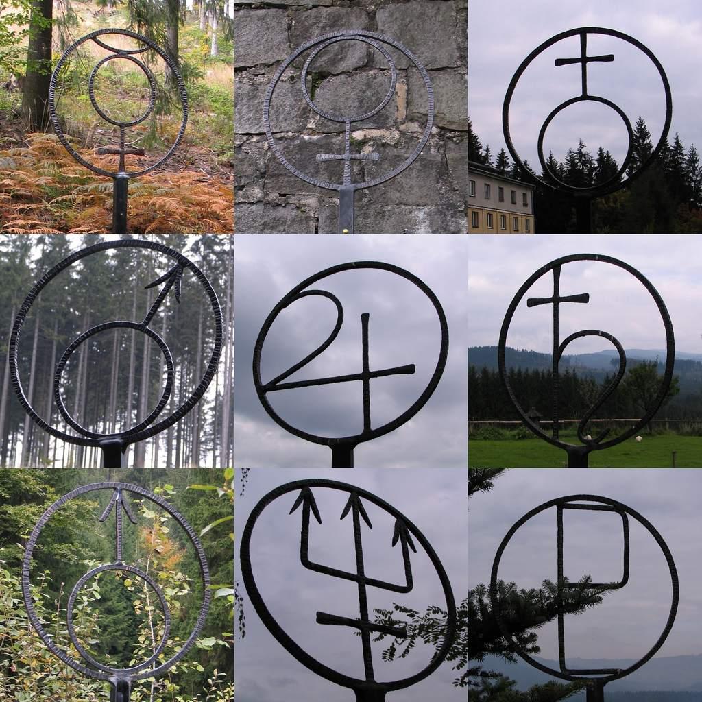Beskidzka Ścieżka Planetarna (symbole planet)
