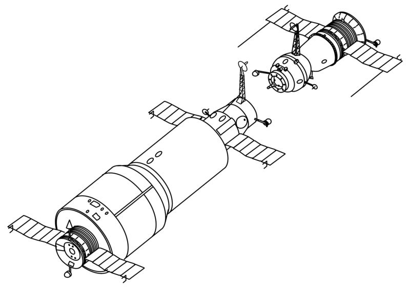 Salut 1 i Sojuz, rysunek