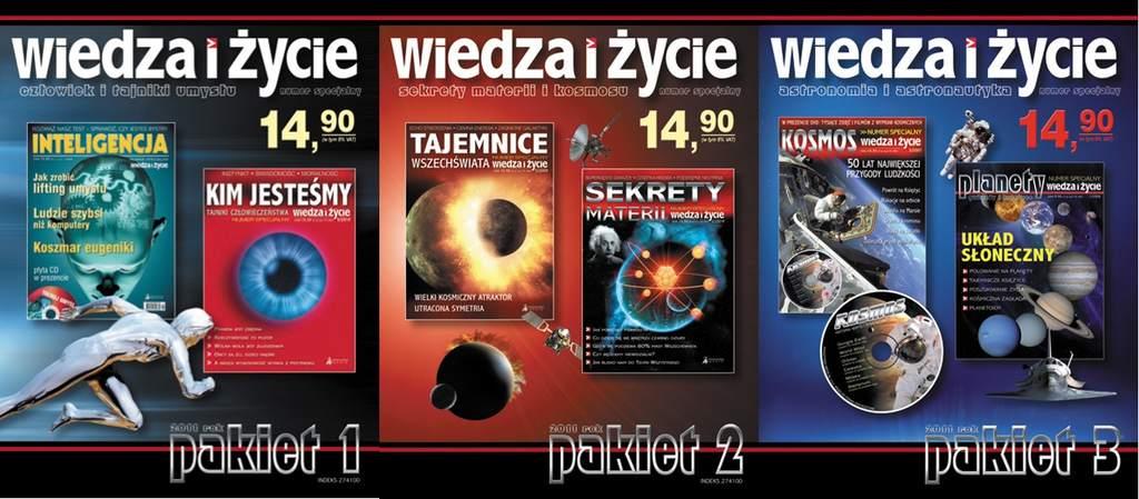 Okładki pakietów numerów specjalnych WiŻ 2011