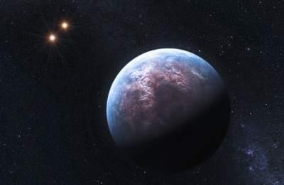 czarna planeta w układzie podwójnym