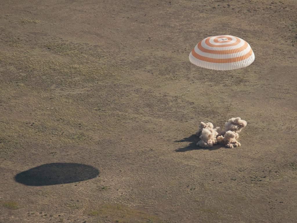 Lądowanie Sojuza TMA-20
