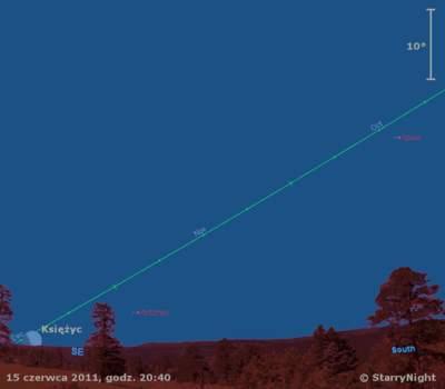 Animacja zaćmienia Księżyca z 15 czerwca 2011 roku