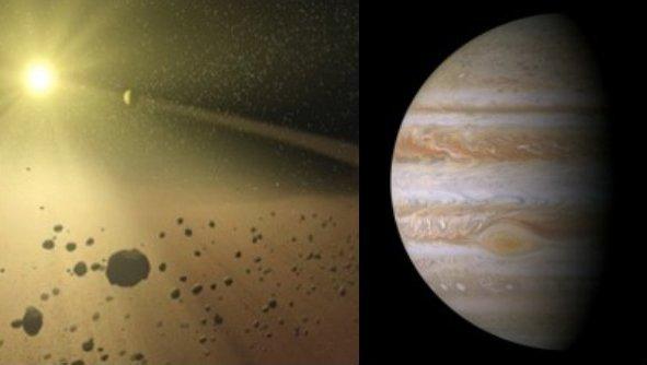 Wpływ migracji Jowisza na pas planetoid